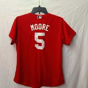 🛑 Red Sox Majestic Cool Base Jersey Moore 5